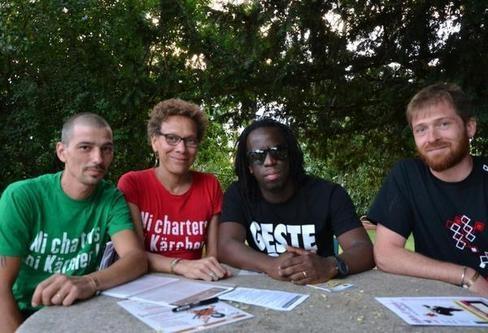 Stéphane, Mounia et Joffrey ont apprécié la disponibilité de Youssoupha et son soutien à leur cause.