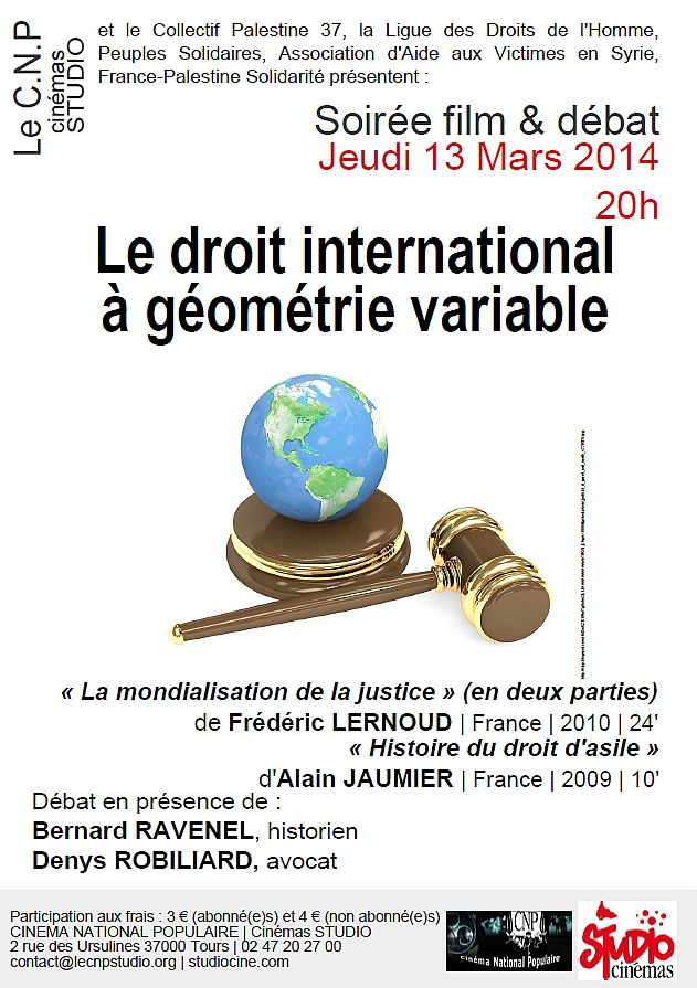 Affiche CNP Droit international à géométrie variable