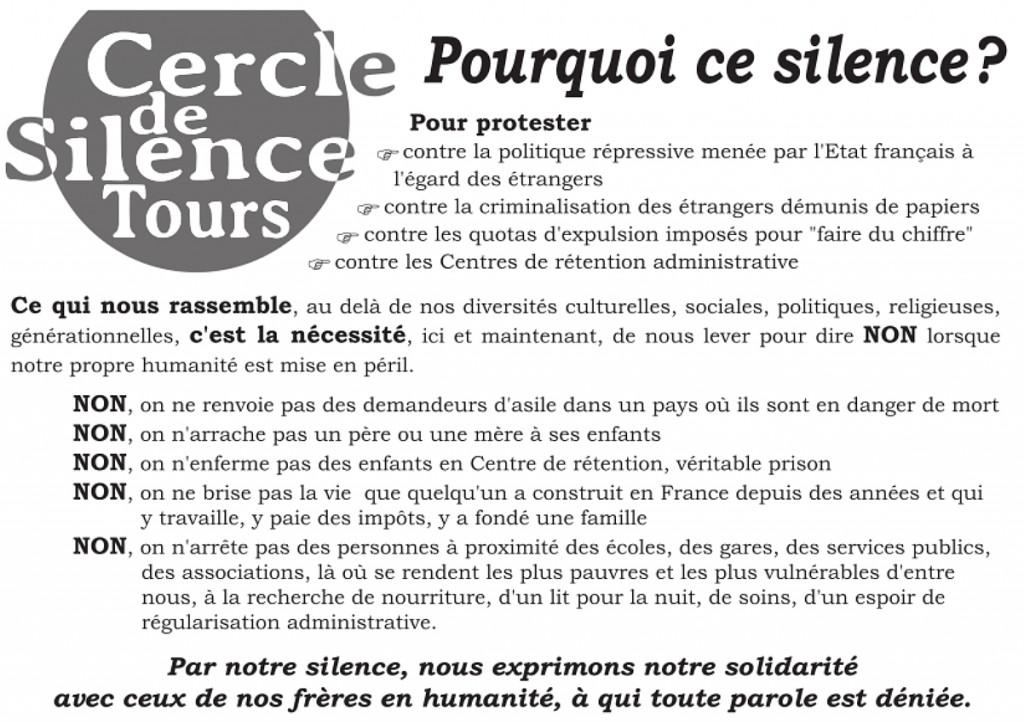 Pourquoi le Cercle de Silence Recto