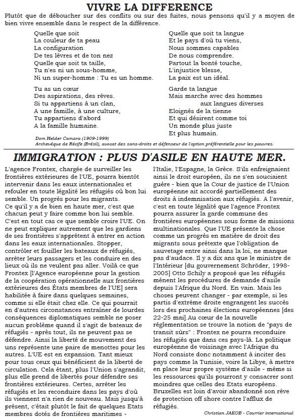 Bulletin 6 Cercle de Silence de Tours 2
