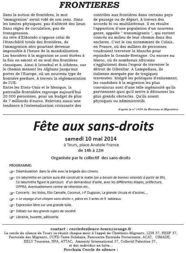 Bulletin 6 Cercle de Silence de Tours 4