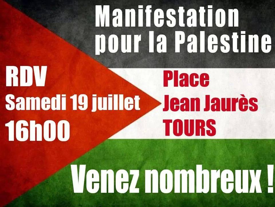 Tours Soutien Palestine 190714