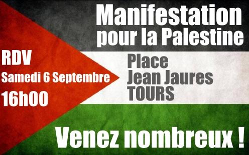Flyer - Flag Paliestine Manifestation 6 Septembre