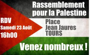 Rassemblement Palestine 23 Aout