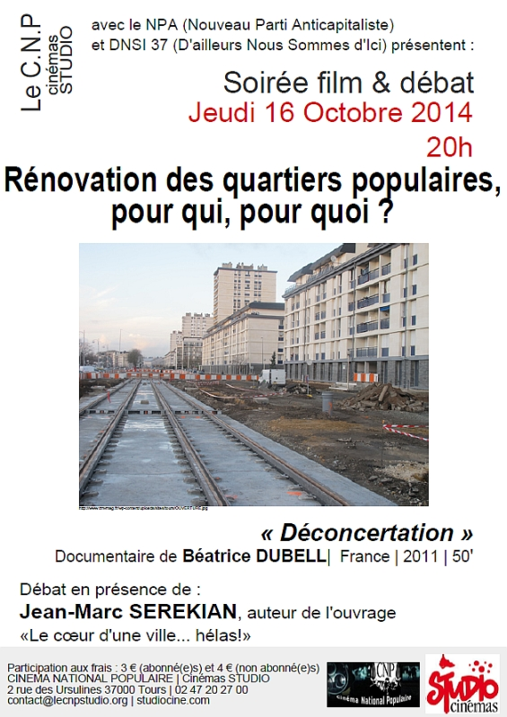 Affiche soirée CNP Rénovation Urbaine 16-10-14