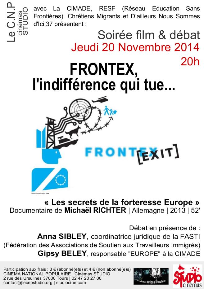Affiche soirée CNP Frontex 201114