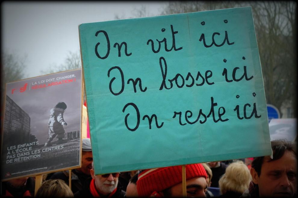 Pancartes 21 mars Tours Crédits Rotative
