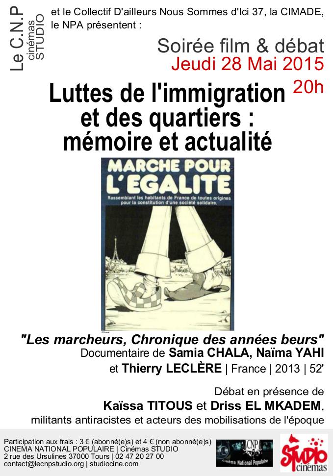 Affiche CNP 28 mai Memoire luttes immigration QP