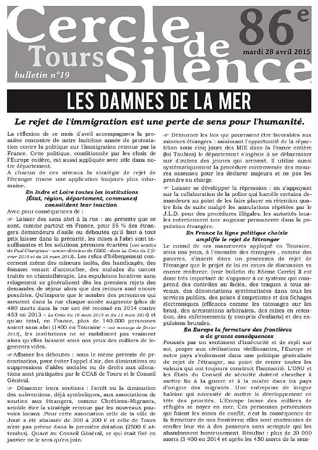 Bulletin CDS Les Damnés de la Mer p1