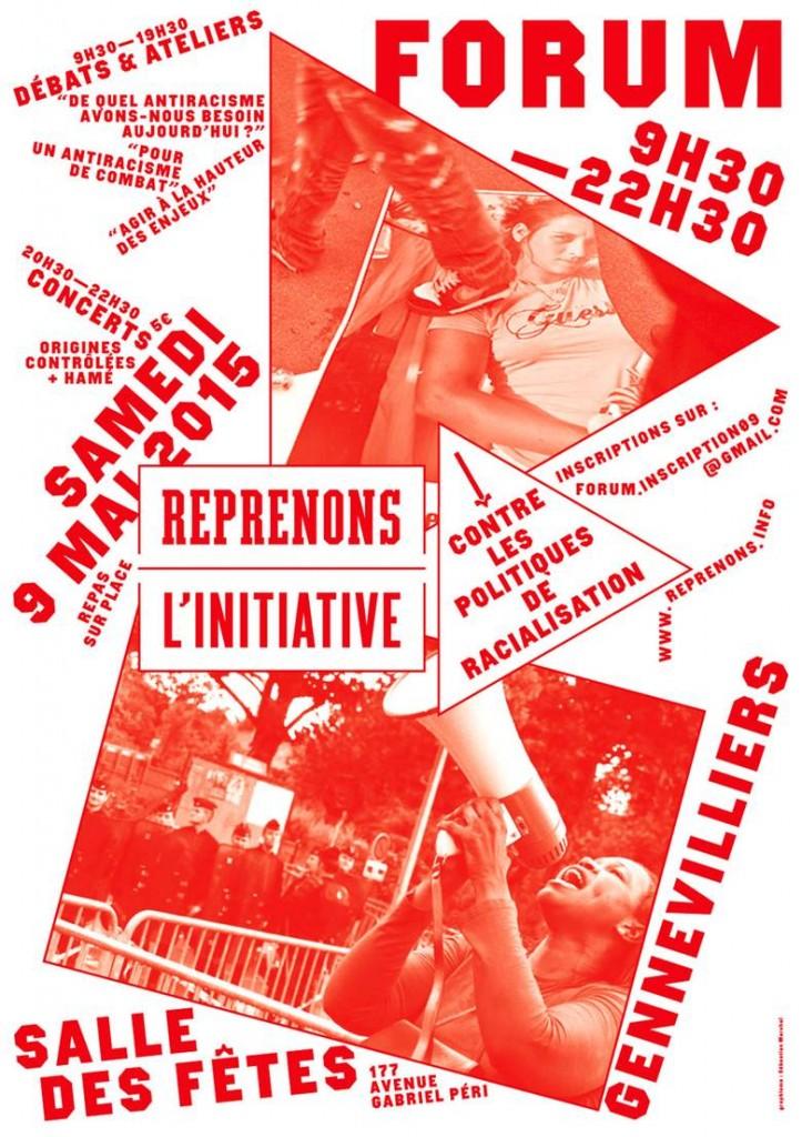 Affiche forum Reprenons l'initiative 9 mai