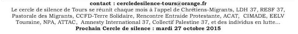 Cercle de Silence de Tours