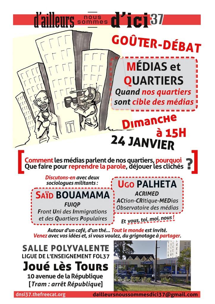 Affiche Medias et Quartiers 24 Janvier 2016