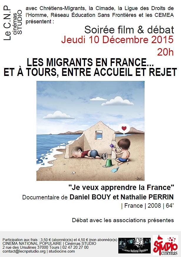 CNP MigrantEs en France et à Tours 10-12-15