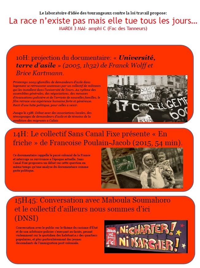 Affiche Labo Idees journée du 3 mai Discriminations Raciales