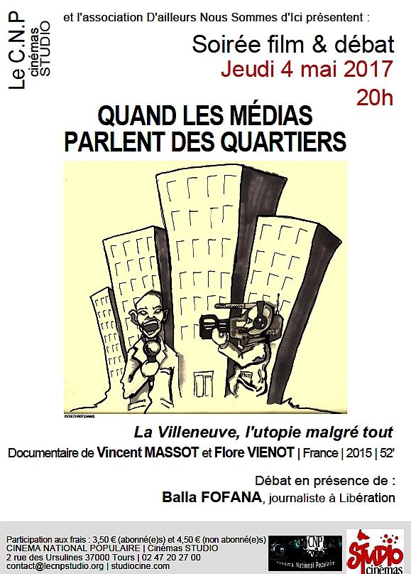 Soirée film-débat CNP sur Médias et Quartiers 4 mai 2017