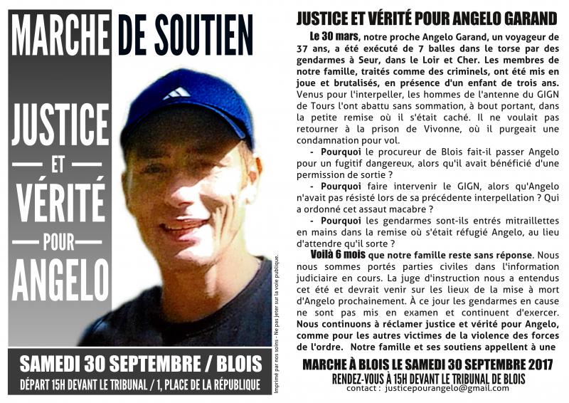 Marche pour Angelo Garand le 30 septembre 2017 à BLOIS : cliquer sur l'image pour voir et partager l'événement fB